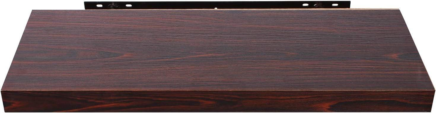 EUGAD 4 pi/èces /Étag/ère Murale /étag/ères suspendues en Bois,40x22,9x3,8cm Gris 0141QJ-4