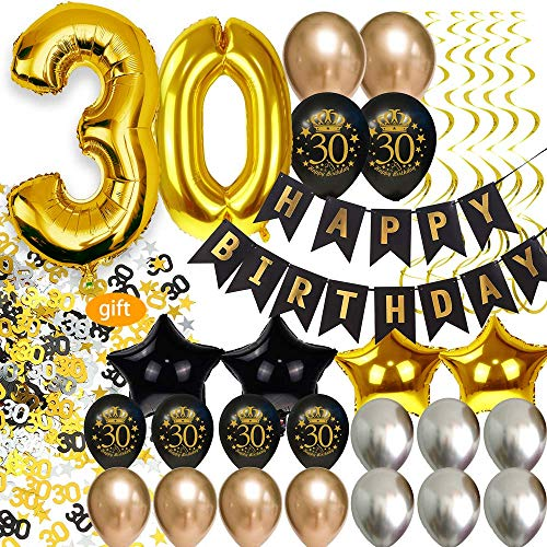 30th Birthday Decor (30th Birthday Decorations for Men Party Supplies Dirty Thirty Him Decor)