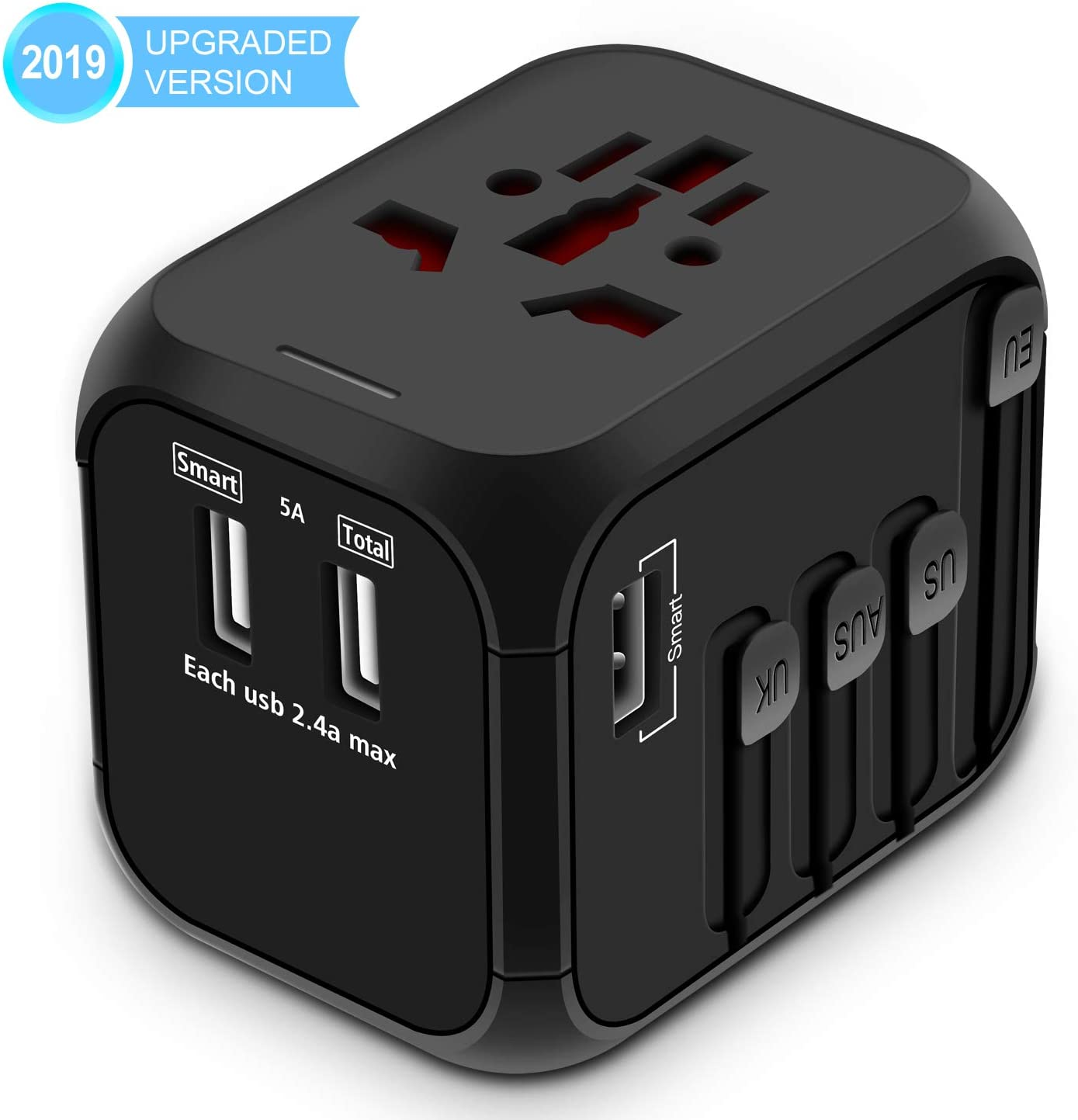 The Universal Travel Adapter travel product recommended by Jonathan on Lifney.