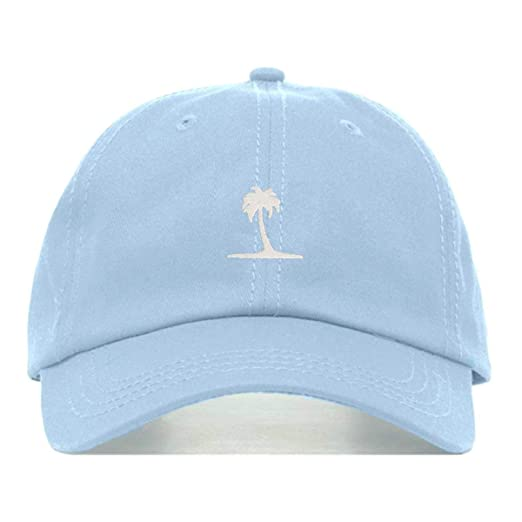 c49f804bf Amazon.com: Palm Tree Dad Hat, Embroidered Baseball Cap, 100% Cotton ...