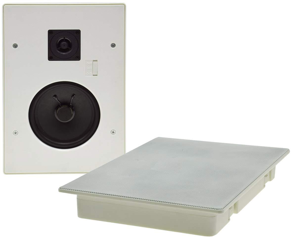 CTE-W - Altavoz empotrable para Techo y Pared (Rejilla de protección de Metal, 8 ohmios, Montaje Sencillo (287 x 197 mm, 120 W, 2 vías), Color Blanco