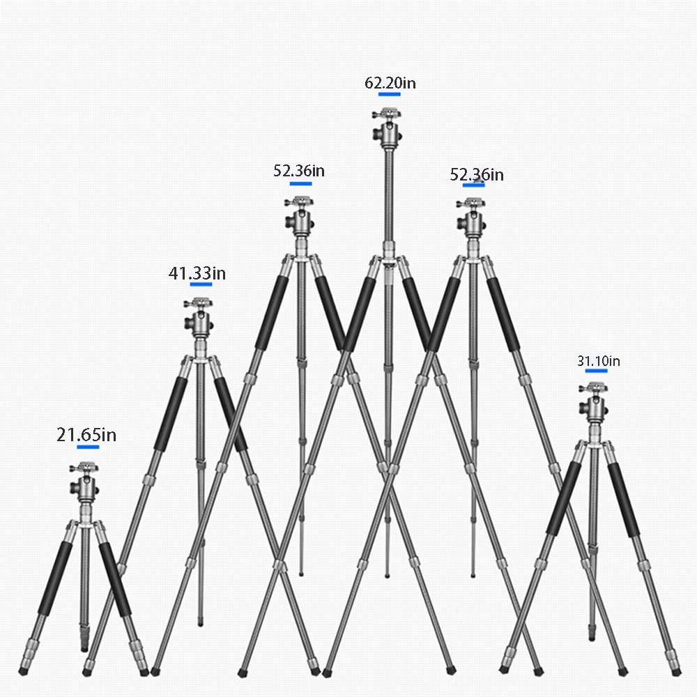 Portable and Stable Travel Outdoor Photography SLR Camera Tripod 360 /° Panoramic Shooting Still Life Multi-Function Suitable for Nikon Canon Sony QWERTU Camera Tripod