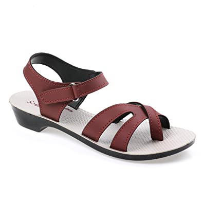 7177d1f781e4 PARAGON SOLEA Women s Red Sandals  Buy Online at Low Prices in India -  Amazon.in