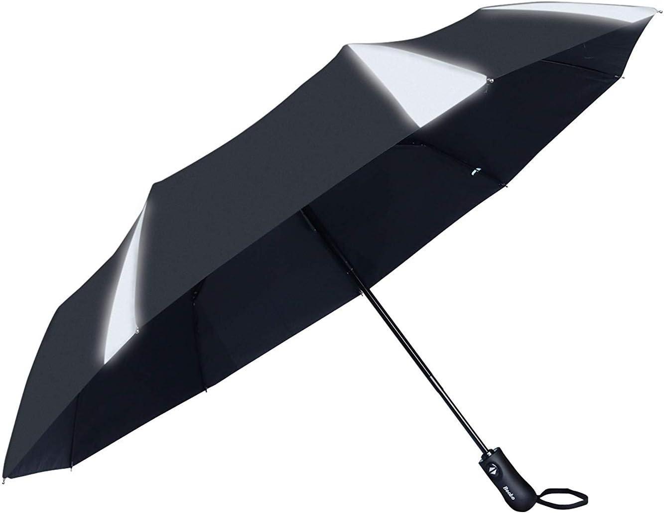 Black Becko 54 Inches Auto Open Umbrella Long Umbrella with 16 Ribs