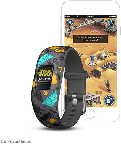 Garmin v vofit jr 2, Kids Fitness Activity Tracker, Star Wars The Resistance, 1-year Battery Life Renewed