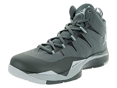 4c788ed57baf7 Nike Jordan Men's Jordan Super.Fly 2 Cool Grey and White Basketball Shoes  10.5