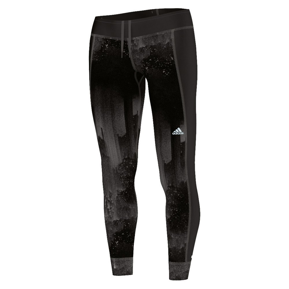 adidas Damen Leggings Response Graphic Climawarm Tights, Black