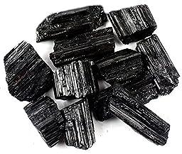 Crystal Allies Materials: 1lb Bulk Rough Black Tourmaline Crystals from Brazil - Large Raw Natural Stones Reiki Crystal HealingWholesale Lot