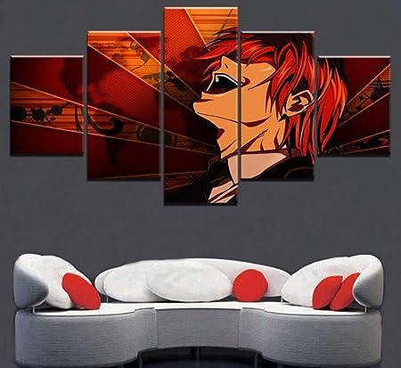 Lqhqt Impressions Sur Toile 5 Pièces Anime Abstrait Imprimé