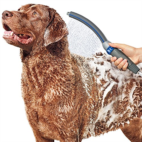 Waterpik PPR-252UK Pet Wand PRO Dog Shower Attachment for Indoor-Outdoor Use, Grey