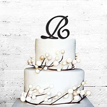 cake toppers initials letter r birthday engagement wedding favors party cake decorating supplies