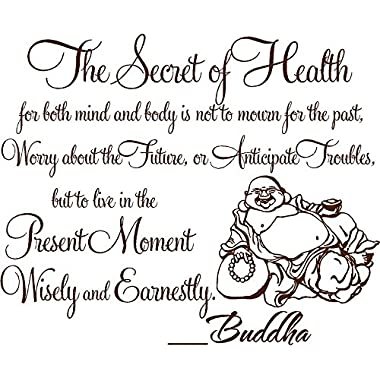 The secret of health for both mind and body..Buddha vinyl wall art decal