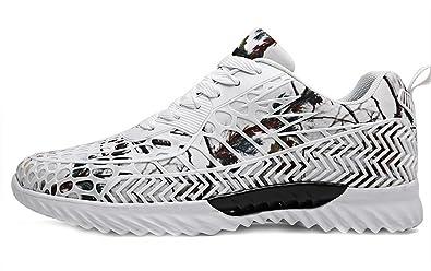 NEWZCERS Unisex Mode Paar Atmungsaktive Sport Sneakers Camouflage Mesh Freizeitschuhe Wanderschuhe Fitness Schuhe QEkAr