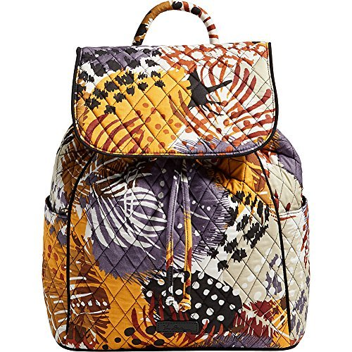 Vera Bradley Women's Drawstring Backpack, Painted Feathers]()