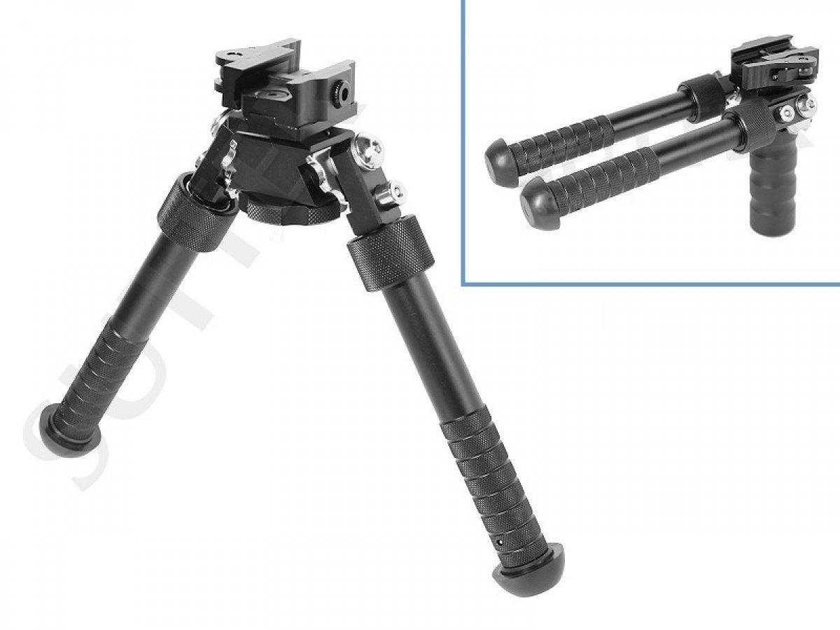 Bípode y Agarre Frontal, Grip Delantero, para Weaver y Picatinny/Cojín de Tiro y Apoyo para Escopeta de Aire comprimido, Softair y Rifle SUTTER