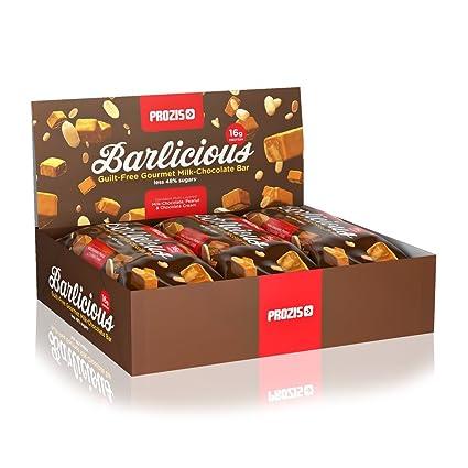 Prozis Barlicious Protein Bar, Chocolate con Leche - 6 Unidades