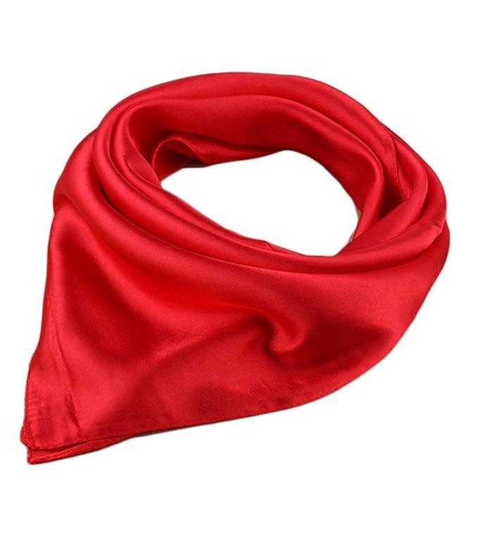Unisexo Versátil Color Sólido 45% seda Bandana Pañuelo para la cabeza Fulares Bufanda de Cuello C4HEndy