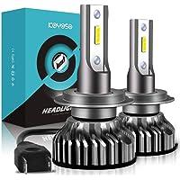 Lampadine H7 LED 10000LM, Kit Lampada Sostituzione per Alogena Lampade e Xenon Luci, Fari Abbaglianti o Anabbaglianti per Auto, 12V-24V, 6000K Bianco