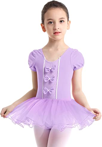 Kids Girls Ballet Gymnastics Leotards with Tutu Wrap Skirt Dance Dress Dancewear