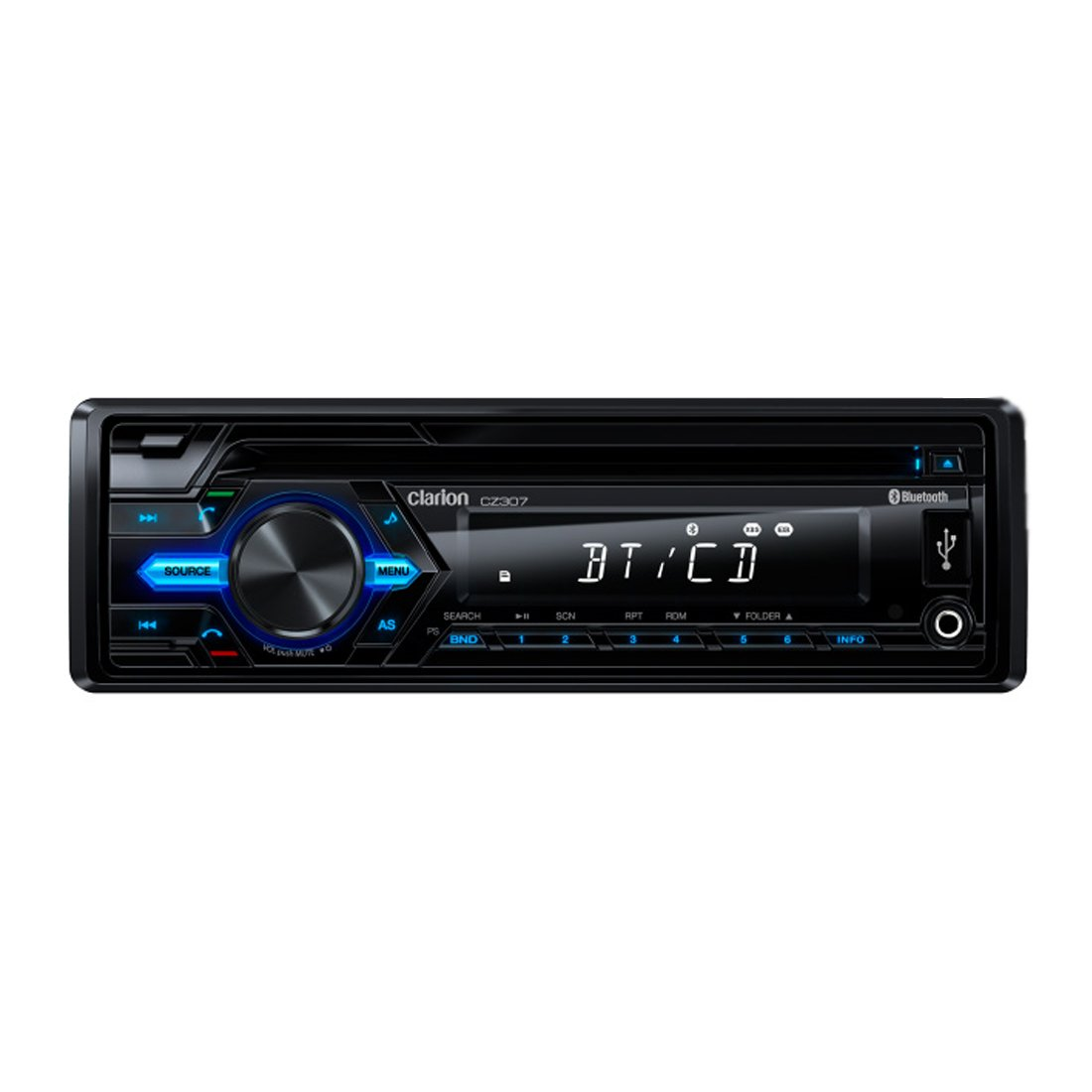 Clarion CZ307 CD / USB / AUX-IN / SD / MP3 / WMA Receiver With Built-in Bluetooth