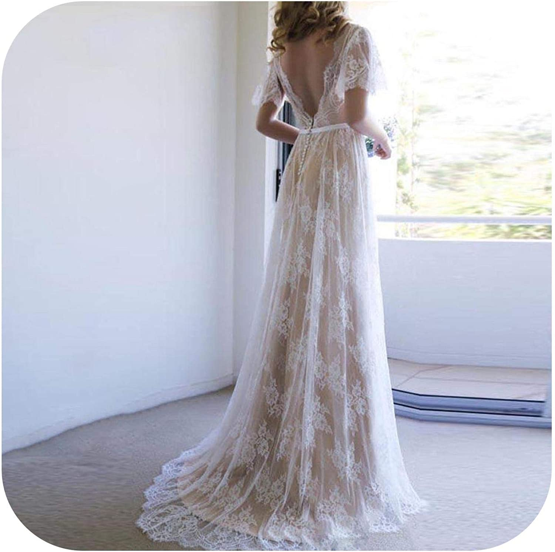 Wedding Dress Champagne Informal Bridal Dress V Neck Lace Wedding Dresses Romantic Wedding Dress Wedding Gown Champagne 8 Floor Length Amazon Co Uk Clothing,Casual Simple Beach Wedding Dresses