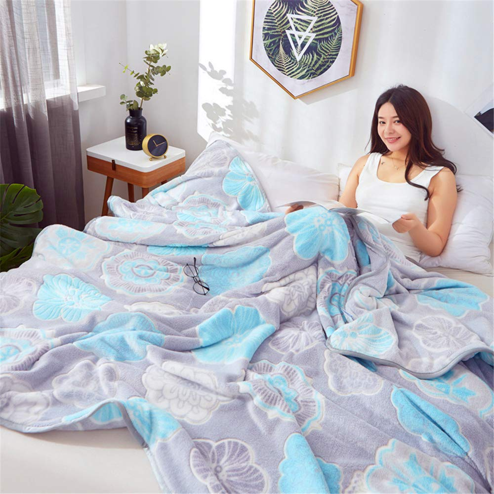 Snowflake Velvet Blanket Female Summer Warm Flannel Sheets Double Thick Coral Fleece Blanket Skin Friendly Comfort Soft and Delicate Pandora 150200cm by iangbaoyo