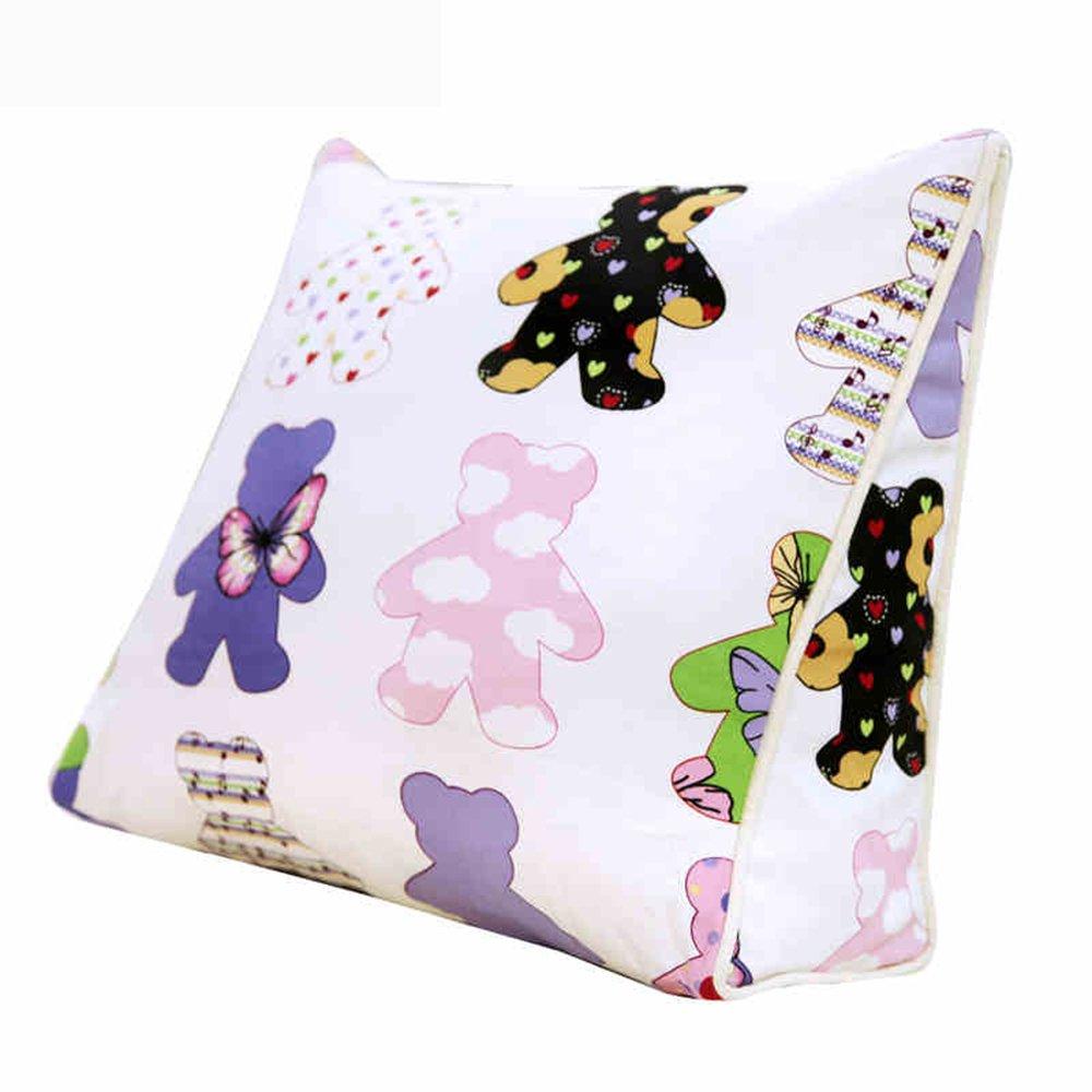 Cushion Cojín lavable, Cojines de Triángulo de dibujos animados Cojines de sofá cojines de cama Cojines de niños y niñas para niños, Que contiene el núcleo (Tamaño : 45*40*15CM) Cailin