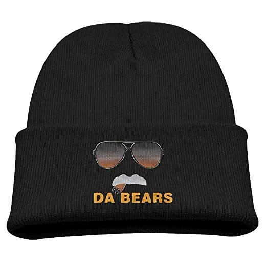 710afdd1932 Amazon.com  Da Bears Ditka Funny Chicago Beanie Hat Warmc Printed Children Beanie  Hat Knit Cuff Winter Outdoor Hat Pink  Clothing