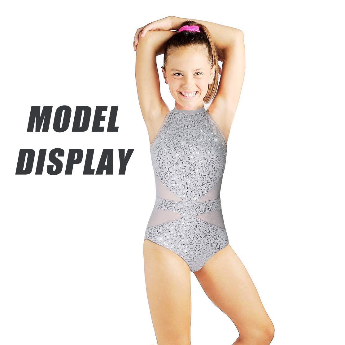 3849fa862 Amazon.com: Beamlet Gymnastics Leotards for Girls Sparkly Dancewear Bling  and Shiny: Clothing