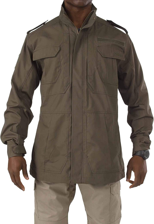 Poly//Cotton Ripstop Teflon Treatment 5.11 Tactical Mens Taclite M-65 Field Jacket Style 78007