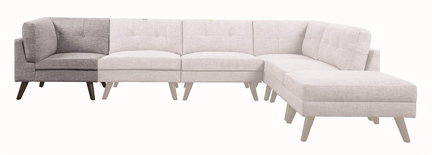 Amazon.com: Coaster Home Furnishings 551301 Corner Sofa Grey ...