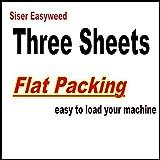 "3 sheets of 12"" x 15"" Siser Easyweed Heat Transfer Vinyl, IRON ON T-shirt Heat Transfer, Craft Garment, (White)"