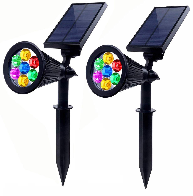 Generic Solar Spotlights Outdoor 7 LED, 2 Pack