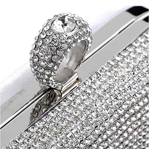 Nupcial Del Partido Borlas De Mujeres Silver Baile Monedero Las Bolso Curso Fin Diamante Wyba Tarde AE5qwpn