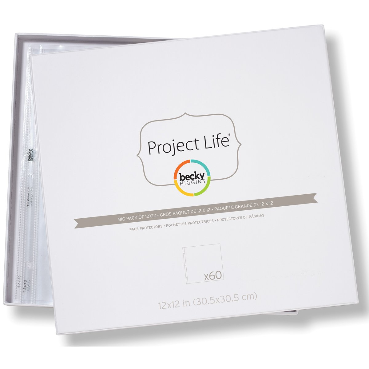 Becky Higgins Big Pack of 12x12 Page Protectors (60 Pages) AMC380003