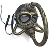 MasqStudio Halloween Costume Cosplay Steampunk Dress up Party Masquerade Gas Mask (Gold)