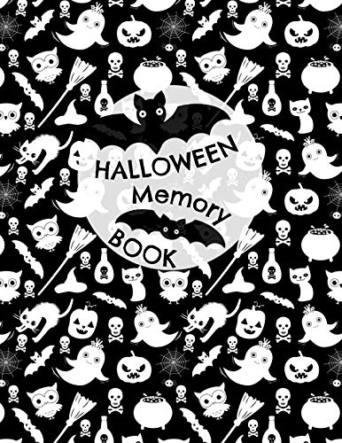Halloween Memory Book: Cute Journal to Keep Photos and Stories From Each Year in One Place with Space for Pictures and Lined Pages for Writing -