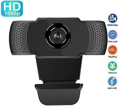 ZREE 1080P Cámara Web con micrófono, PC Webcams giratorias, cámara Web USB 2.0 Full HD, Diseñada para computadoras portátiles, computadoras de Escritorio, Mac, monitores LCD, Smart TV.: Amazon.es: Electrónica