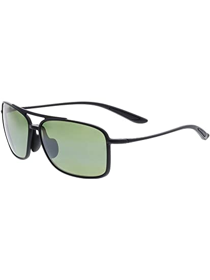 0466642d6b3 Maui Jim HT437-2M Matte Black Matte Black Kaupo Gap Square Pilot Sunglasses  Len  Amazon.co.uk  Clothing
