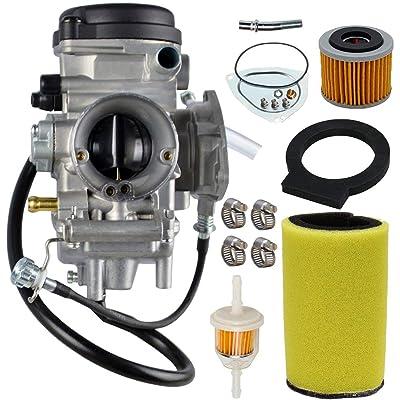 Carburetor Carb Kit For Yamaha Big Bear Wolverine Kodiak Grizzly 400 YFM 400 YFM400 2000 2001 2002 2003 2004 2005 2006 ATV With Air Fiter Fuel Filter: Automotive