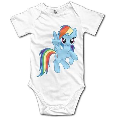 amazon com rainbow dash my little pony custom baby unisex rompers