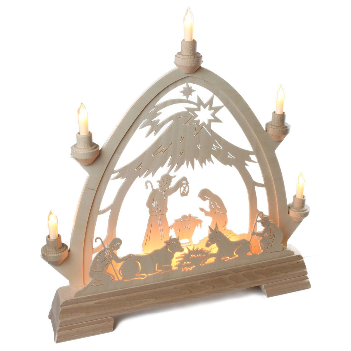 Dregano Christmas Nativity Schwibbogen Arch Made in Germany