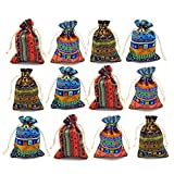 12pc Egyptian Style Jewelry Coin Pouches Aztec Print - Best Reviews Guide
