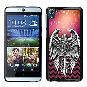 Dragon Case - FOR HTC Desire D826 - Accept what is unchangeable - Caja protectora de pl??stico duro de la cubierta Dise?¡Ào Slim Fit