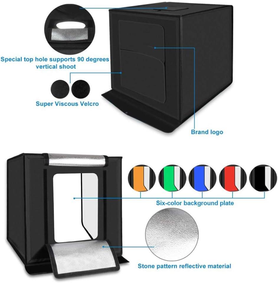 QWERTOUY Lightbox 60 PCS LED Mini Photo Studio Box 5500LM Photography Box Soft Box Light Tent Set 3 Color Backdrops Portable Bag