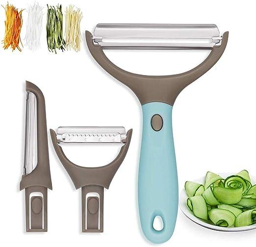 BEST Vegetable Potato Hand Peeler Stainless Steel Dual sided Slicer Coloured