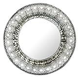 Lulu Decor, Oriental Round Silver Metal Beveled Wall - Best Reviews Guide