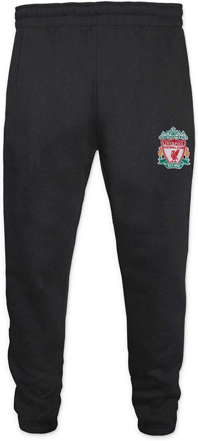 Amazon Com Liverpool Fc Official Soccer Gift Boys Slim Fit Fleece Joggers Jog Pants Clothing