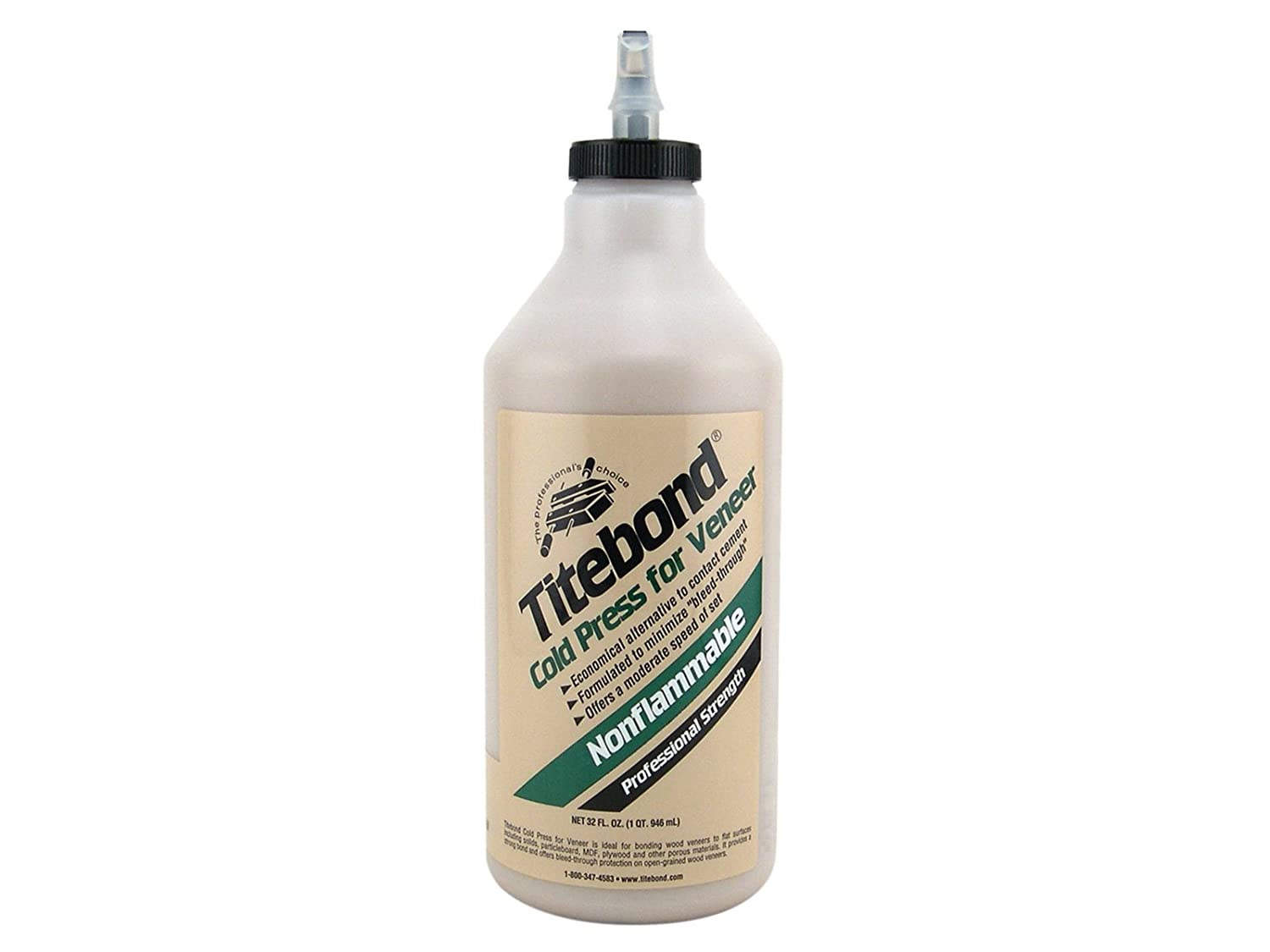 5175 Titebond Glue, Cold Press for Veneer, 1 Quart, Brown