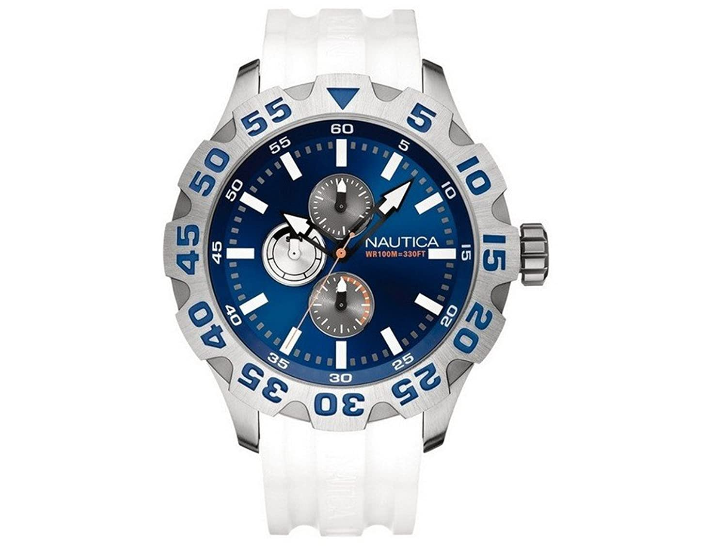 Nautica Uhren Herrenuhr BFD 100 Multi Blue and White A15567G